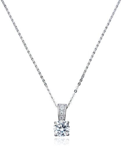 CRISLU Necklace, Platinum over Sterling Silver Cubic Zirconia Pendant (2 ct. t.w.)