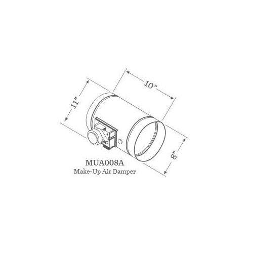 Zephyr MUA008A 8 Inch Round Universal Make Up Air Damper with 24VAC 60 Hz AC Mot, N/A