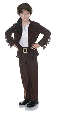 [Children's Frontier Costume - Dark Brown, Large] (Frontier Boy Davy Crockett Child Costumes)