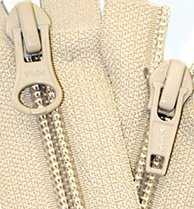 20.5\ Jacket Zipper YKK #5 Coil \2-way\ Separating ~ YKK Color 085 Beige (1 Zippers/pack)