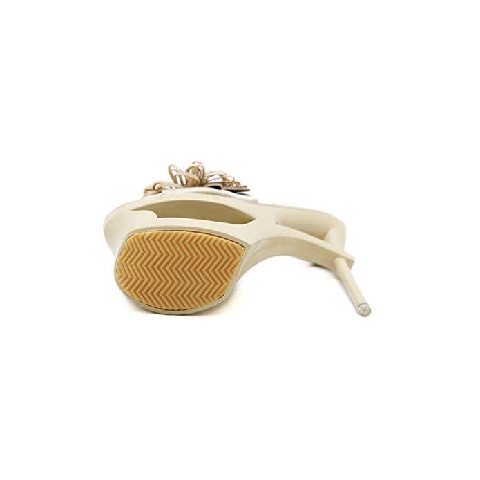 Dandanjie Pantofole Tacco A Spillo Da Donna Con Plateau Fiore Altissimo 15 Cm Scarpe Estive Per Lo Shopping Club All'aperto b 38eu