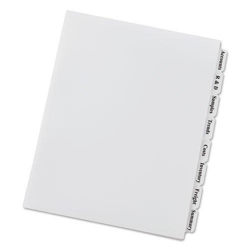 Index Maker Unpunched Clear Label Dividers, 8-Tab, Letter, 5 Sets/Pack