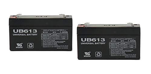 Ge Replacement Battery - Universal Power Group 6V 1.3Ah Backup Battery LEOCH DJW6-1.2 T1 F1 6V1.3AH 6V1.4AH 6V1.2AH LP6-1.3 (2)