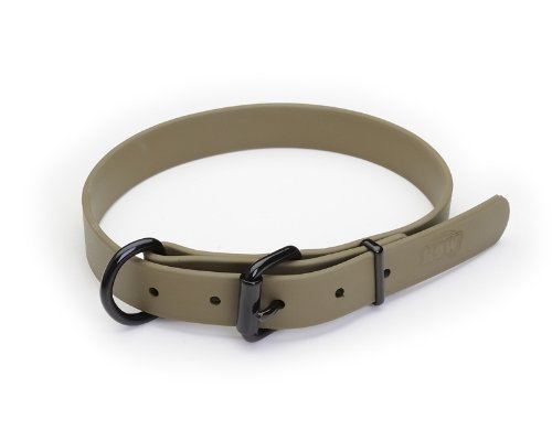 "K9 Warrior Biothane Dog Collar 1"" - 47cm (19"") - OD Green"