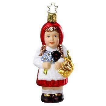 Inge-Glas Fairytale Lil' Red Riding Hood 1-016-11 German Christmas Ornament