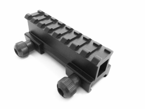 "Tactical 1"" Compact Weaver-picatinny High Profile See Through Riser Rail Riflescope Sight"