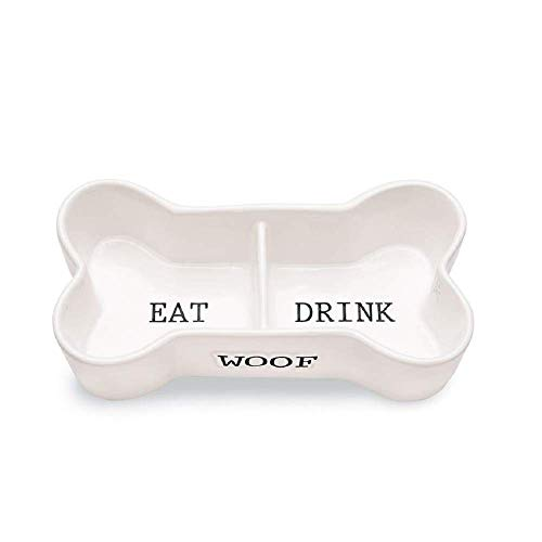 Mud Pie Eat and Drink Bone Pet Bowl