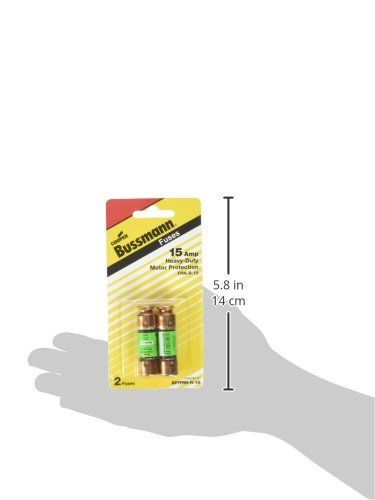 Bussmann BP/FRN-R-15 15 Amp Fusetron Dual Element Time-Delay Current Limiting Class RK5 Fuse, 250V UL Listed (Pack of 2)
