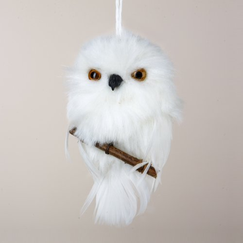 4 Snowy Owls Christmas Ornaments