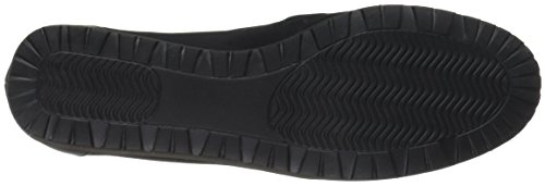 Walking Cradles Women's Flounce Boat Shoe Black Leater Mqkxgo