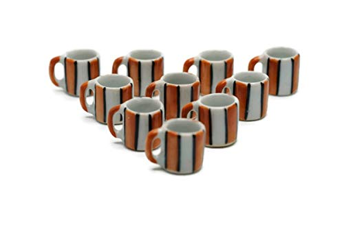 10 White Modern Coffee Mug Tea Cup Dollhouse Miniatures Food Kitchen by Cool Price
