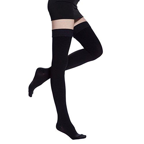 ctkcom-compression-stockings-thigh-high-microfiber-medical-tight-close-toe-socks-20-30mmhgblack1x-la