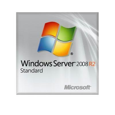 Microsoft Windows Server 2008 R2 Standard With Service Pack 1 64-bit - License and Media - 4 CPU, 5 CAL, 1 Server