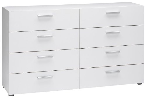 Tvilum Austin 8-Drawer Dresser, White (Bedroom Futon Frame Modern)