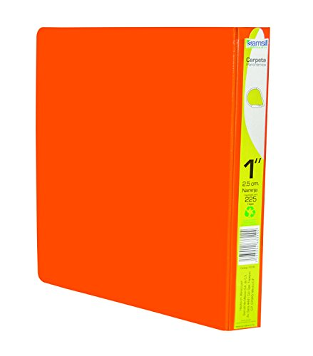 Samsill 16735 Carpeta de Argollas, 1', color Naranja