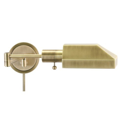 - House Of Troy WS12-71-J Home/Office Collection Squared Wall Lamp, Antique Brass