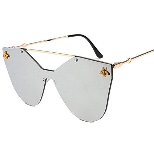De La Marco amp;HA Oro La Señoras De Sol Salvaje La Manera Las Gafas De De Tendencia Muchacha Abeja De La De Silver Z Bluepurple De Tendencia De OwzUw