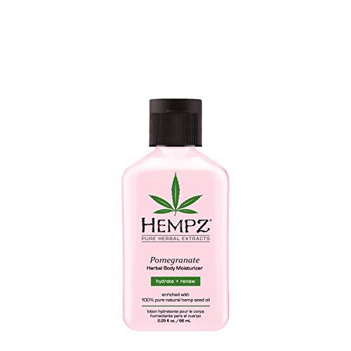 (Hempz Herbal Body Moisturizer, Light Pink, Pomegranate, 2.25 Fluid)