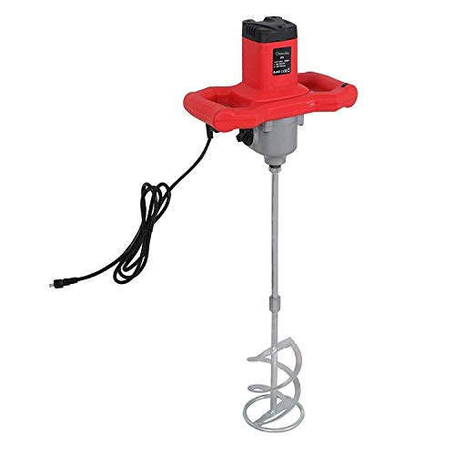 1600W Portable Electric Concrete Cement Plaster Grout Paint Thinset Mortar Paddle Mixer Pro Drill Mixer Stirring Tool Adjustable 7 Speed Handheld Standard 110V