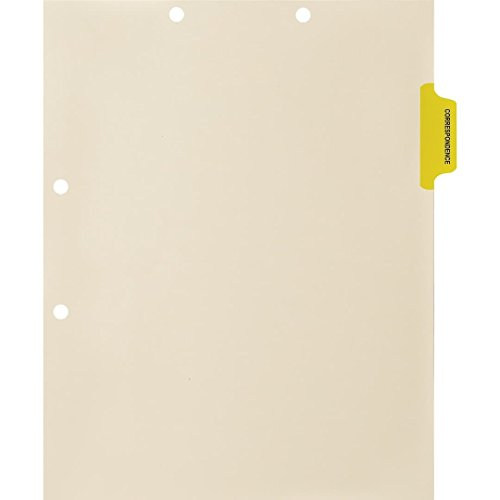 Medical Arts Press Match Colored Side Tab Chart Dividers- Correspondence, Position 2 (100/Pkg) ()
