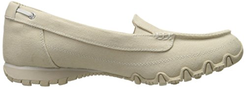 Donna basso collo a Pedestrian Natural Canvas Skechers Bikers Scarpe Beige qRIYYw