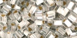 Silver-lined Frosted Crystal Toho Seed Beads Triangle 8/0 (1 Ounce)