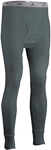 Indera Men`s Cotton Rib Knit Thermal Underwear PantsTrans Dry Smoke 4X-Large
