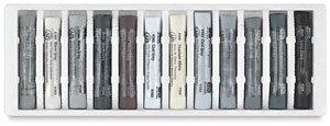 Art Spectrum Pastel 12 Piece Grey Tonal Set