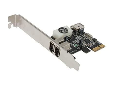 1394 Firewire Card, 1394A to PCIE (PCI Express) Expansion Card, 3 Ports 1394A Card (2 External + 1 Internal), Rosewill RC-504 IEEE 1394 Firewire ...
