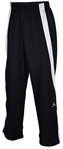 Jordan Men's Nike Jumpman Warm Up Basketball Pants-Black-Medium