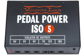 Voodoo Lab ISO-5 Pedal Power Supply w/Bonus Patch Cable & Picks (x3) 813140001222 - Voodoo Labs Cables