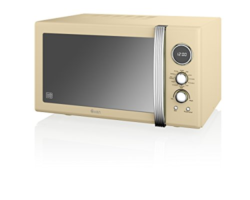 Swan Products SM22080CN Retro Digital Combi Microwave with Grill, 25 Litre,...