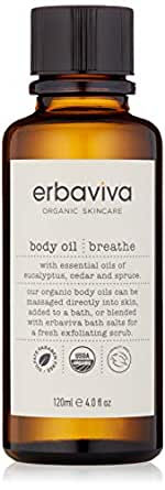 erbaviva Breathe Body Oil, 4 Fl Oz