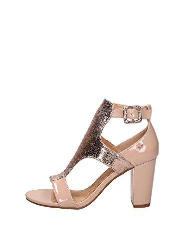 O6 SA0594 Sandals Heels and Plateau Woman Nude