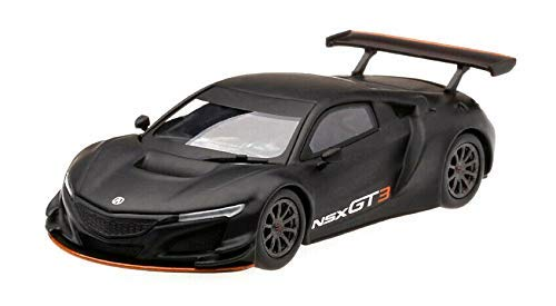 Acura NSX GT3 Matt Black Los Angeles Auto Show 2017'' Limited Edition to 3,600 Pieces Worldwide 1/64 Diecast Model Car by True Scale Miniatures MGT00026