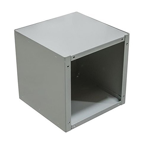 Milbank 12128-SC1-NK NEMA 1 Polyester Powder Coated Steel Screw Cover Junction Box Without Knockout 12 Inch x 12 Inch x 8 Inch ANSI 61 Gray