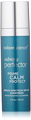Calming Face (Colorescience Calming Perfector Face Primer, Water Resistant Mineral Sunscreen, Broad Spectrum 20 SPF UV Skin Protection, 1 Fl Oz)