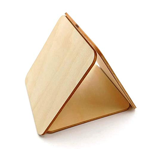 Blank Wooden Tags 100Pcs 10mm 20mm Blank Wood Pieces Slice Square Unfinished Cutout Hanging Gift Tags for Art Crafts Wedding Party DIY Supplies -