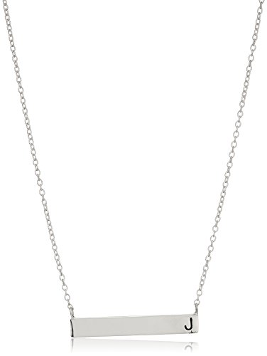Sterling Initial Station Pendant Necklace