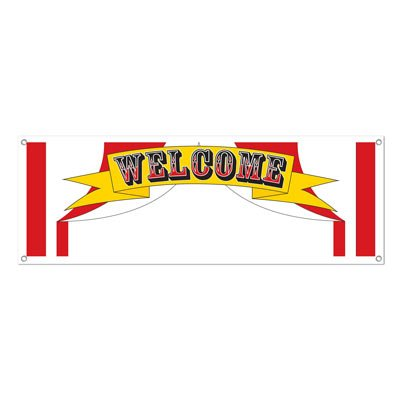 Welcome Sign Banner Party Accessory (1 count) (Banner Party Accessory)