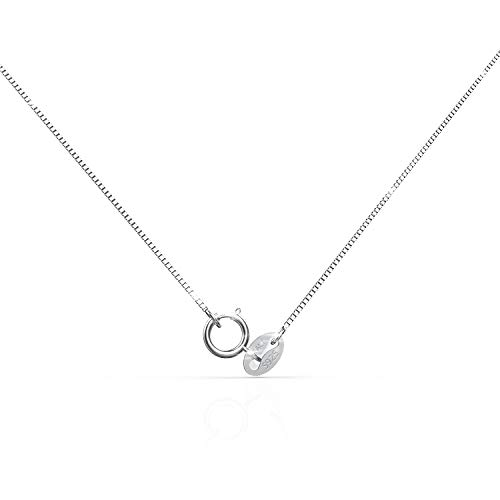 (Jewelry Company Fashion Necklace 925 Sterling Silver Chain 0.8MM Delicate Box Chain Sleek Shiny Italian Neckchain - Super Thin & Strong)
