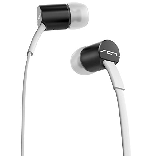 SOL REPUBLIC 1111-31 JAX In-Ear Headphones with 3-Button Mic and Music Control - White/Black