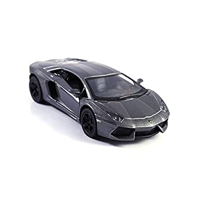 HCK 2011 Lambo Aventador LP700-4 - Pull Back Super Sports Toy Car in Gunmetal Grey: Toys & Games