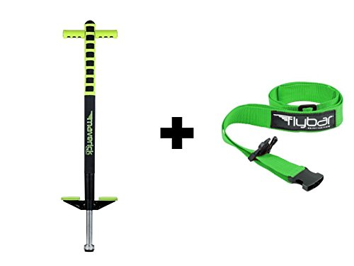 Flybar Foam Maverick Pogo Stick with Quick Clip Pogo Carry Strap (Green/Black - Green Strap) by Flybar (Image #5)