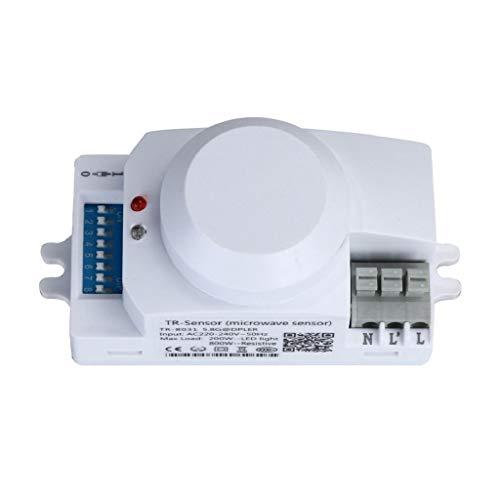 Kadola-220V 5.8GHz Microwave Movement Motion Detector Sensor Switch For Light,White