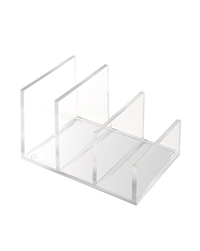 "russell+hazel Acrylic Mini Desktop File Collator, Clear, 4.75"" x 6.756"" x 4"""