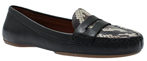 Enzo Angiolini Fridey Womens Slip On Loafers Black/Brown Leather 7.5
