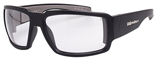 777d3fdd0d Bomber Sunglasses - Boogie Bomb Matte Black Frm   Clear Pc Safety Lens    Gray Foam