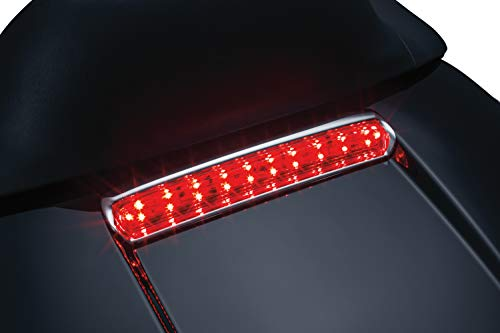 Kuryakyn 6706 Motorcycle Lighting Accessory: Tour-Pak Lid Light, Rear LED Running/Turn Signal/Blinker/Brake Lights for 2014-19 Harley-Davidson Motorcycles, Chrome