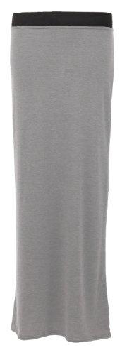 Fast Fashion Jupe longue tzigane en viscose stretch Gris